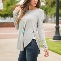 What She Wants Top, Heather Gray