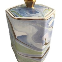 Marble Pattern Votive Candle Holder
