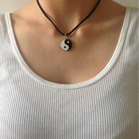90s Inspired Yin Yang Necklace by VelveteenSwiftheart on Etsy