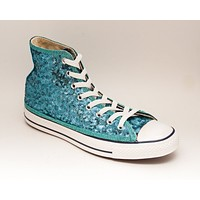 Malibu Blue Starlight Sequin High Top Sneakers