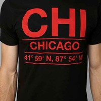 Deter Chicago Coordinates Tee- Black