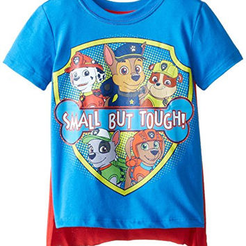 Nickelodeon Little Boys' Paw Patrol Small But Tough Toddler Cape T-Shirt, Blue, 2T
