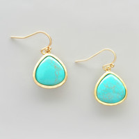 Genuine Turquoise Earrings - Handcrafted in NYC
