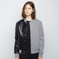 Leather Neoprene Varsity Jacket by T by Alexander Wang