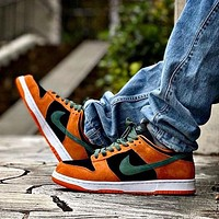 Nike SB DUNK Ugly Duckling Brown Green Black Orange Men's and Women's Sports Shoes Sneakers