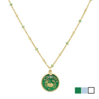 Blee Inara Enamel Horoscope Necklace - Cancer