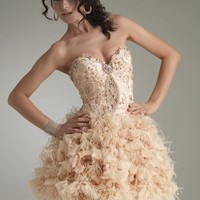 Ruffled cocktail dress by Jasz Couture