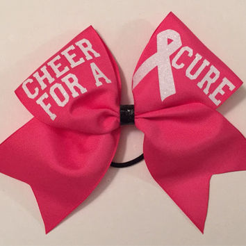Pink Out Cheer Bow- breast cancer awareness