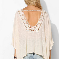Pins And Needles Crochet-Trim Poncho Top - Urban Outfitters