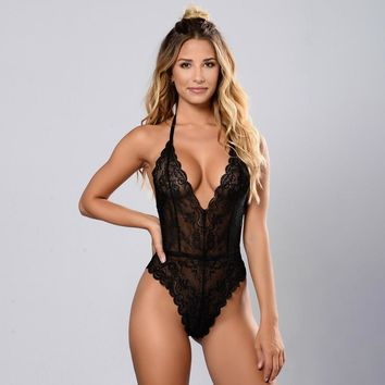 Lace Sexy Ladies One-piece [13244596227]