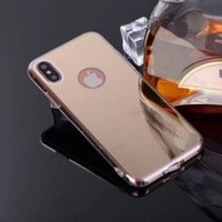 Apple iPhone X Case, Iphone 10, Reflective Mirror Easy Grip Slim Armor Case for Iphone X - Gold
