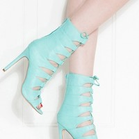 Mint Faux Leather Lace Up Single Sole Heels @ Cicihot Heel Shoes online store sales:Stiletto Heel Shoes,High Heel Pumps,Womens High Heel Shoes,Prom Shoes,Summer Shoes,Spring Shoes,Spool Heel,Womens Dress Shoes