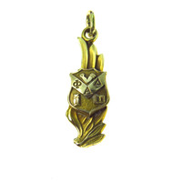 Winged Phi Alpha Delta 14k Gold Pendant Charm Fob