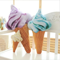 1PC creative simulation 3D ice cream plush doll soft pillow Cushion stuffed toy kids girl boy birthday Gift