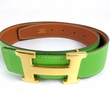 hermes belt, men hermes belt, women hermes belt, belt, belt hermes, belts for men, belts for women, Leather belt, men belt, mens belt, women belt,Auth Excellent HERMES H Buckle Constance Reversible Leather Belt #65 Box 43041 B