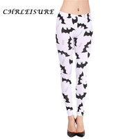 CHRLEISURE S-XL Women'S Print Leggings Low Waist Fashion Sexy Slim Calzas Deportivas Mujer Batman Legging