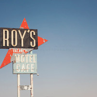 Route 66 Print, California Photography, Roys Motel, Neon sign, Mojave Desert, Travel Photography, Art, Print, Large Wall