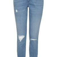 MATERNITY MOTO Bleach Authentic Ripped Skinny Jeans - Bleach Stone