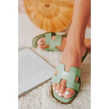 Throw & Go H Strap Sandals (Jade)