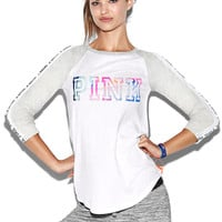 Long Sleeve Baseball Tee - PINK - Victoria's Secret