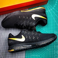 Nike Air Zoom Pagasus 33 New fashion hook print running shoes Black