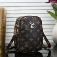 Louis Vuitton LV Women Leather Backpack Daypack Satchel