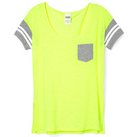 Side Slit Pocket Tee - PINK - Victoria's Secret