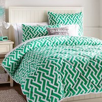 Links A Lot Comforter + Sham, Gumdrop Green