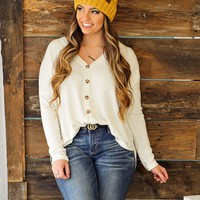 * Somebody To Love Button Down Top: Ivory