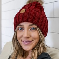 Wind Chill Beanie - Burgundy