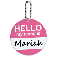 Mariah Hello My Name Is Round ID Card Luggage Tag