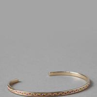 LONDON THREADED BANGLE IN PINK