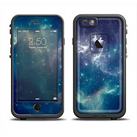 The Subtle Blue and Green Nebula Apple iPhone 6 LifeProof Fre Case Skin Set