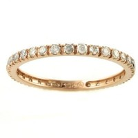 1/2 carat Real Brilliant Diamonds Stackable Eternity Band Ring in 14K Rose Gold