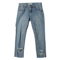 Faded Distressed Jeans (Blue) | STYLENANDA