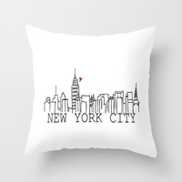 New York. Throw Pillow by Jessica Rose