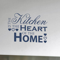 Kitchen Wall Decal  The Kitchen is the Heart by tweetheartwallart