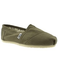 Toms Classic Slip On Espadrille Olive Mens Shoes