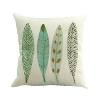 Gajjar Pillow 45*45 Feather Painting Linen Throw  Pillowcases geometric Dropshipping Good inflatable neck pillow for travel