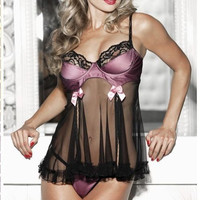 Shipping Within One Day Hot Sales Women Sexy Lingerie Bra Padded Underwear Corset Babydoll Outfit Plus Size