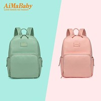 2017 NEW 3pcs PU Waterproof Material Fashion Mummy Maternity Diaper Bag Multi-Function Nappy Backpack Large Capacity Baby Bag