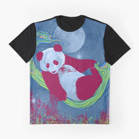 Goodnight, Panda - Colorful Starlight Night Sky by Allise Noble