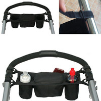 Baby Stroller Carriage Travel Bag Baby Jogger Parent Console Organizer Double Cup Holder New 2016 -- MKC010 PT49