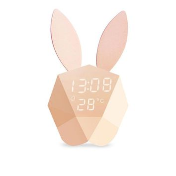 Rabbit  Alarm Clock with Temperature Display