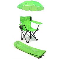 Kids,Toddlers Baby Umbrella Camp Beach Chair with Umbrella Shade, Green