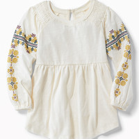 Slub-Knit Fit & Flare Tunic for Toddler Girls   Old Navy