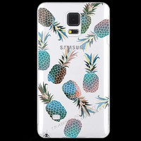 Painting Summer Fresh Fruits Pineapple Cherry Silicon Phone Cases Cover For Samsung Galaxy S5 SV i9600 Case GalaxyS5 Shell KT HX