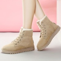 Women Boots Winter Warm Snow Boots Women Suede Ankle Boots For Female Winter Shoes Botas Mujer Plush Booties Woman plus Size