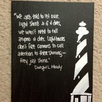 Lighthouse Canvas Inspirational Painting with Quote