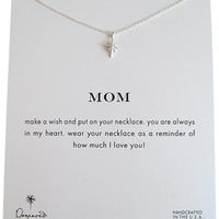 """Dogeared Mom North Star Sterling Silver Reminder Wish Boxed 16"""" Necklace"""